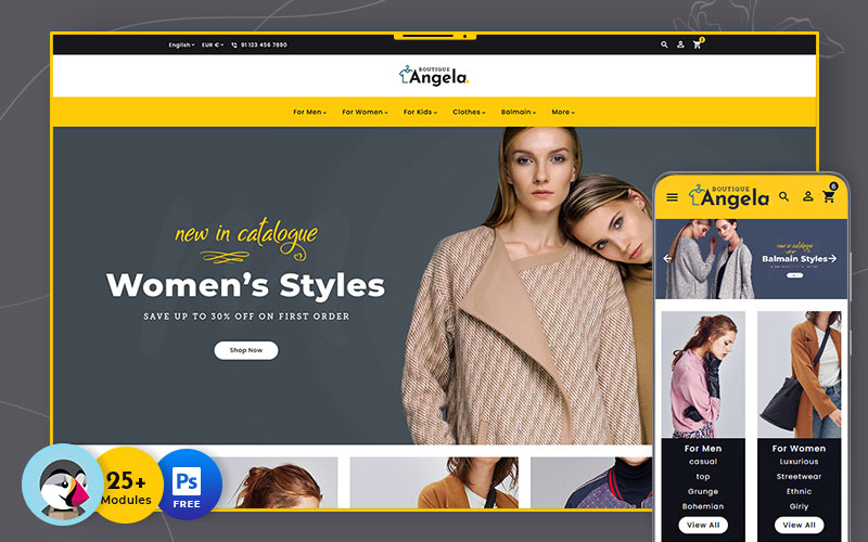 Angela Boutique - Multipurpose Responsive PrestaShop Theme