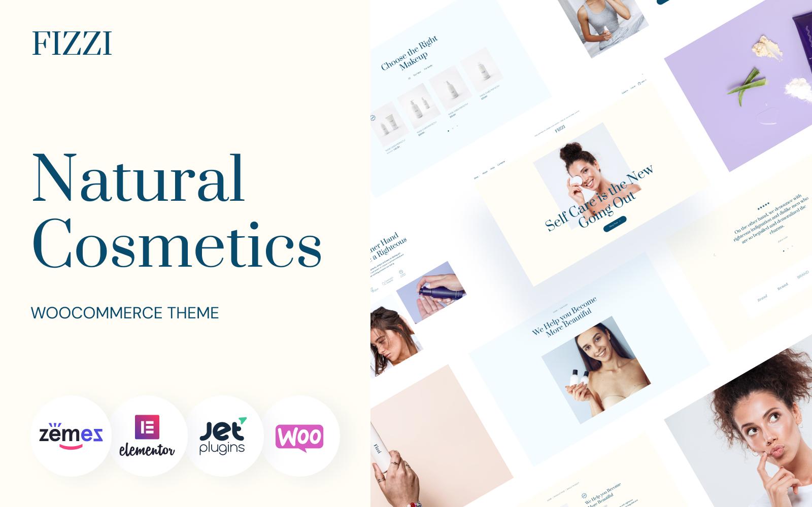 Natural Cosmetics Website Template - Fizzi WooCommerce Theme