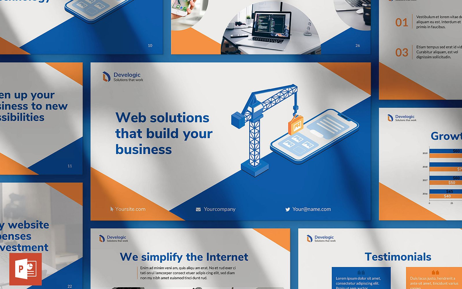 Web and Mobile App Development Presentation PowerPoint Template