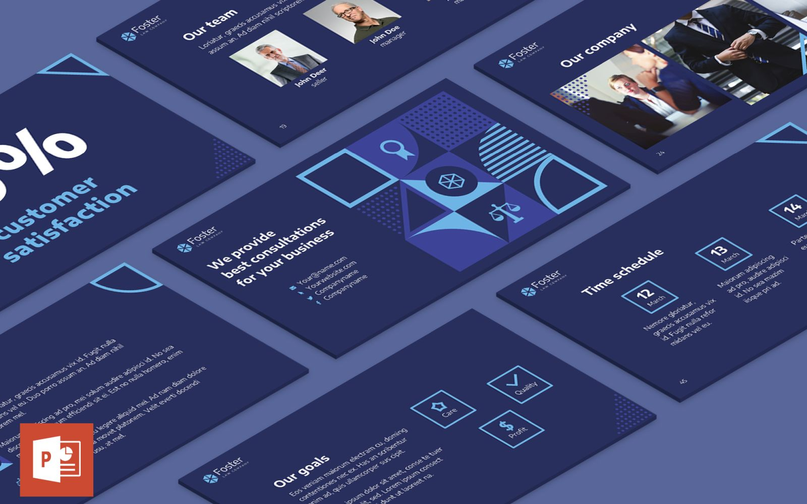 Law Company Presentation PowerPoint Template