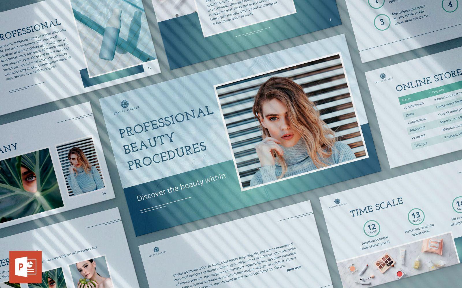 Beauty Market Presentation PowerPoint Template