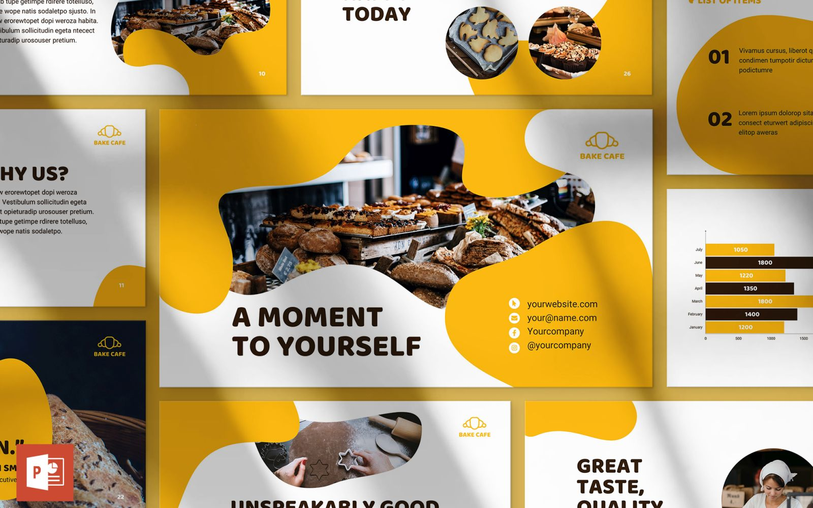 Bakery Cafe Presentation PowerPoint Template