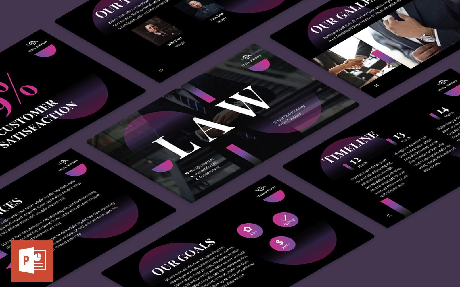 Lawyer Presentation PowerPoint Template