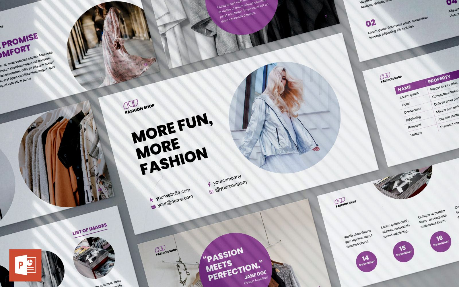 Fashion Shop Presentation PowerPoint Template