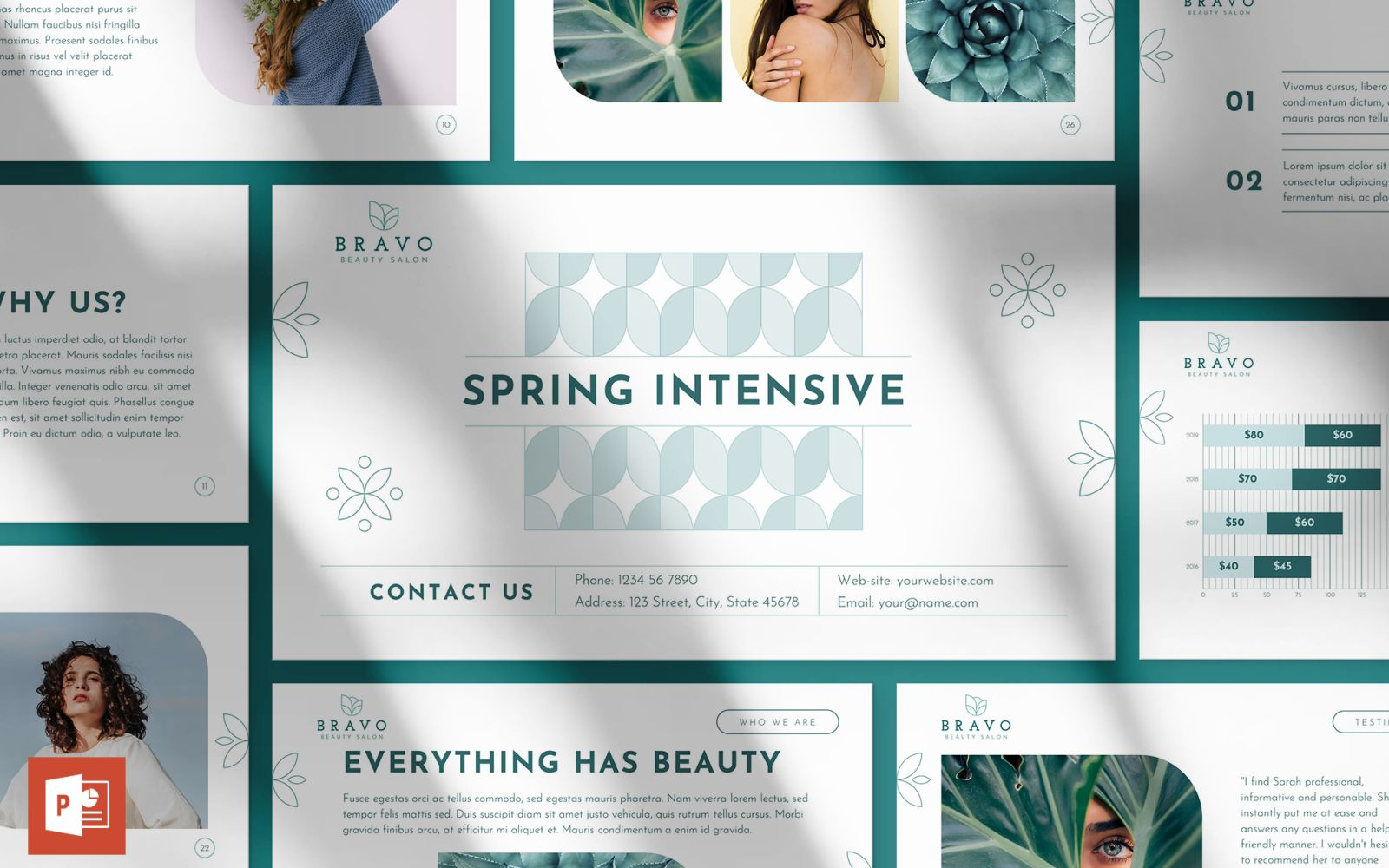 Beauty Salon Presentation PowerPoint Template