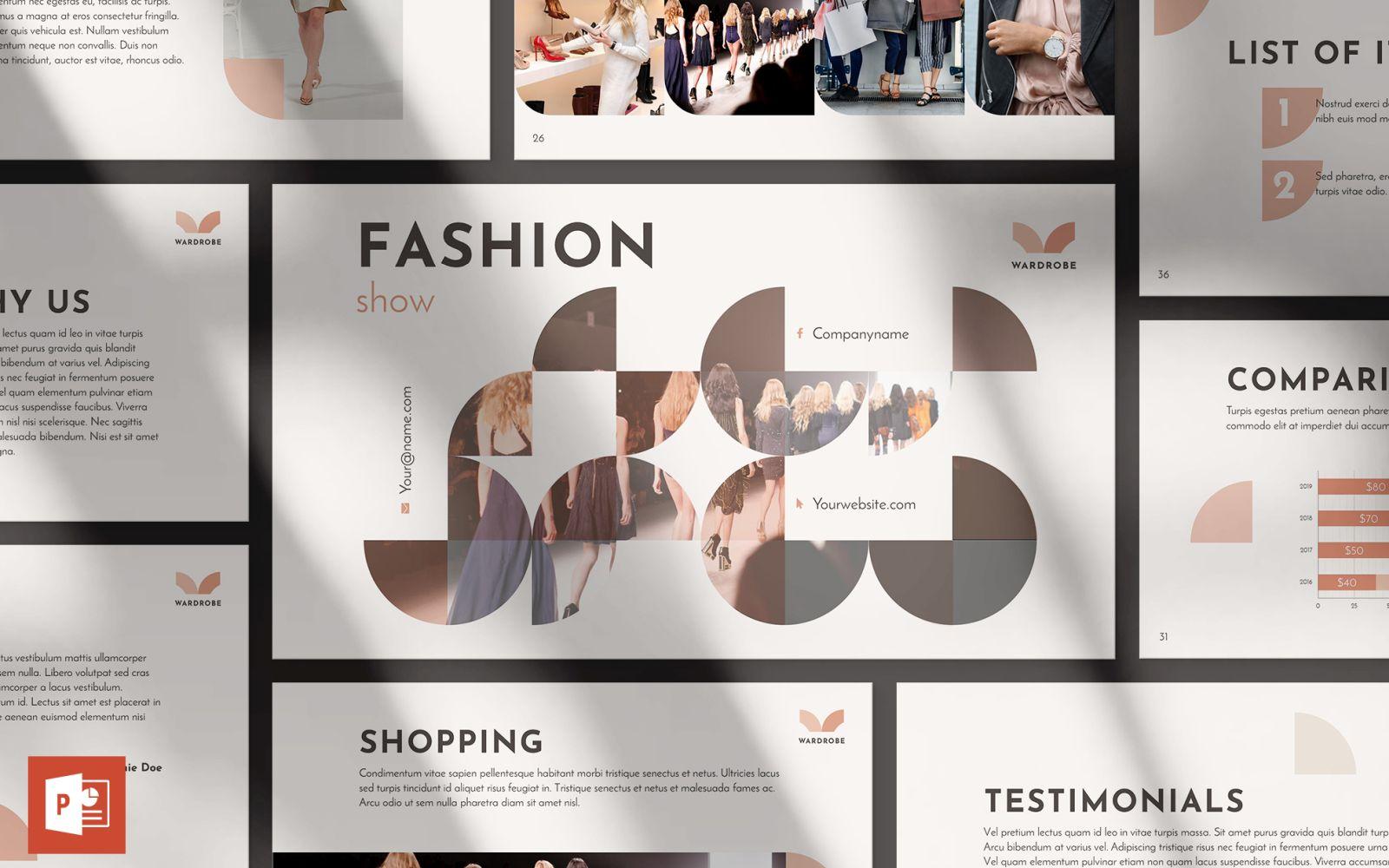 Fashion Show Presentation PowerPoint Template