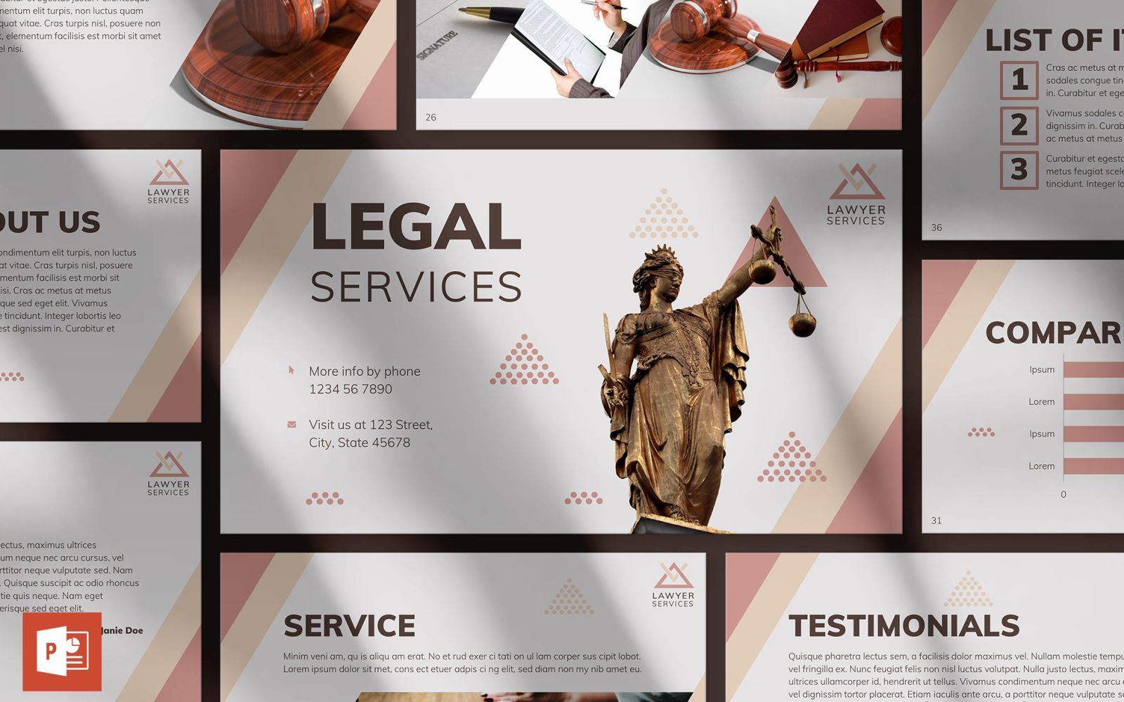 Legal Services Presentation PowerPoint Template