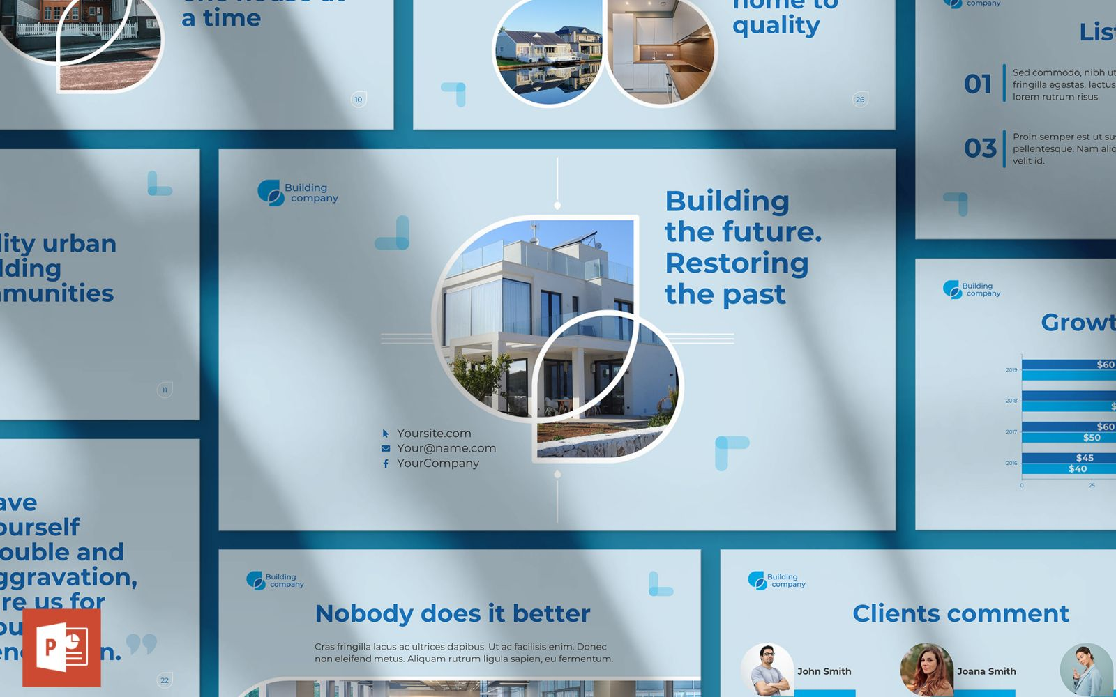 Building Company Presentation PowerPoint Template