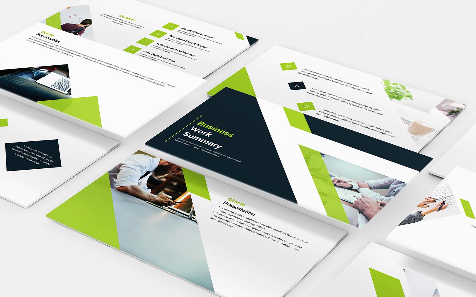Business work summary PowerPoint Template