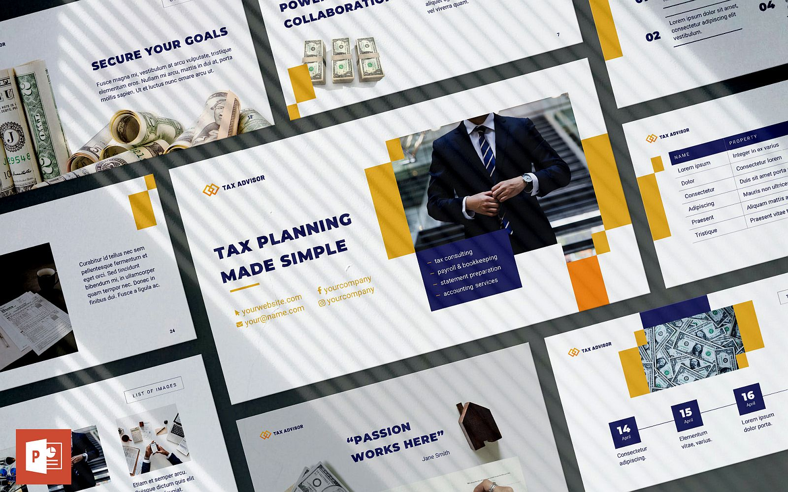 Tax Advisor Presentation PowerPoint Template
