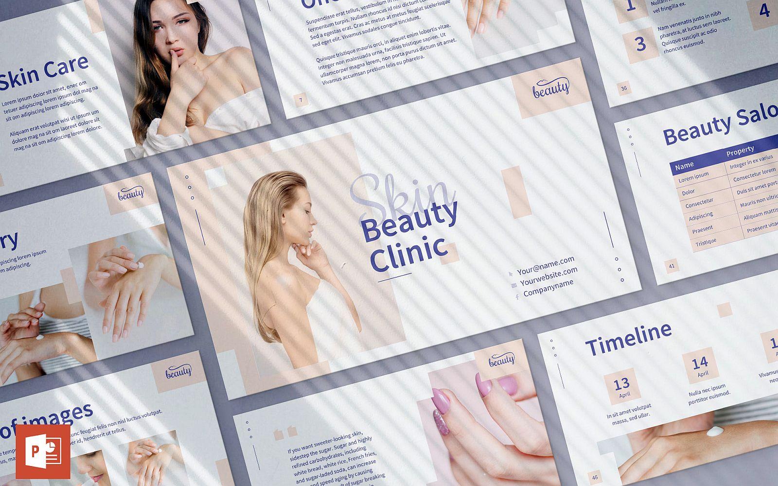 Skin Beauty Clinic Presentation PowerPoint Template