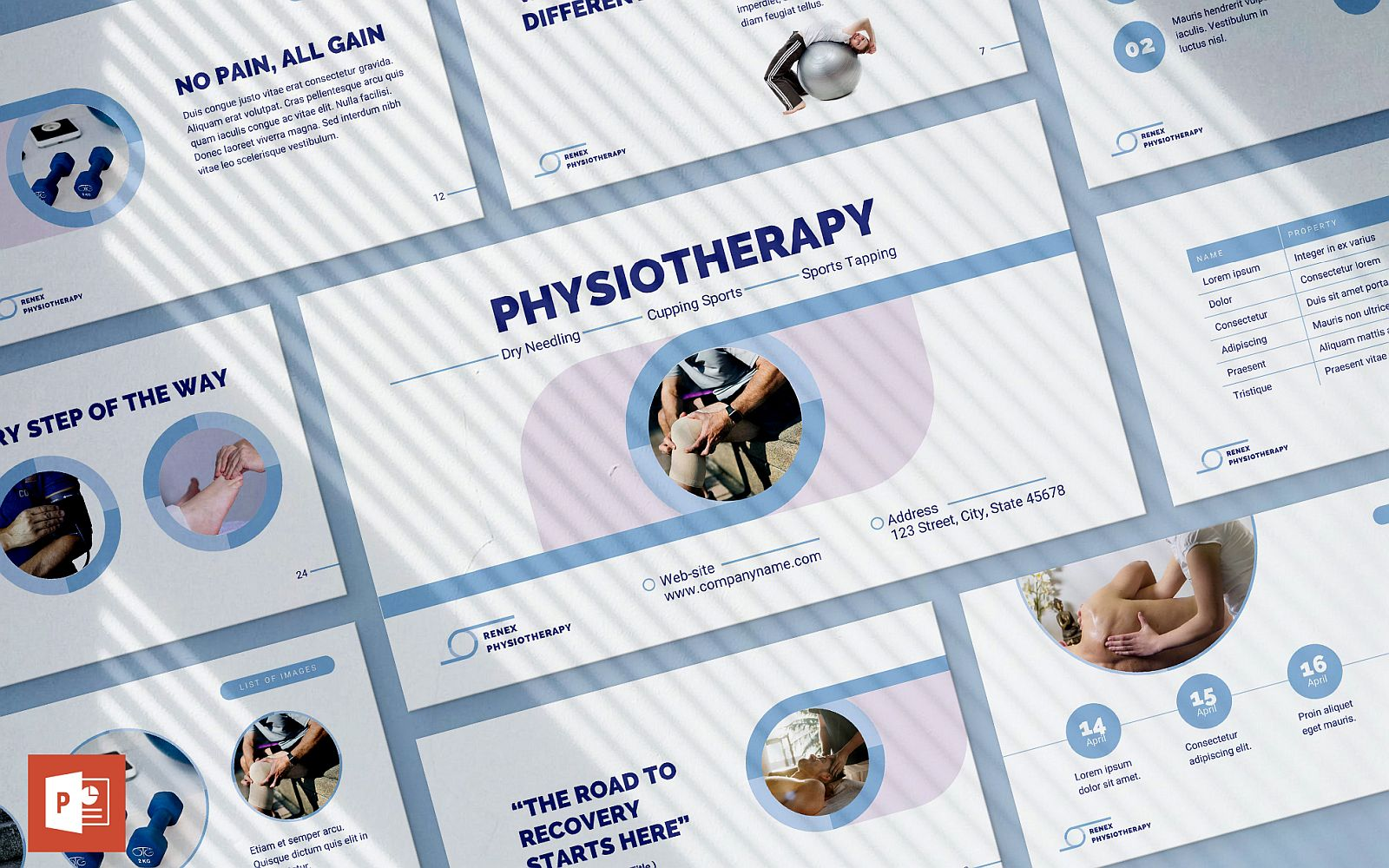 Physiotherapy Presentation PowerPoint Template