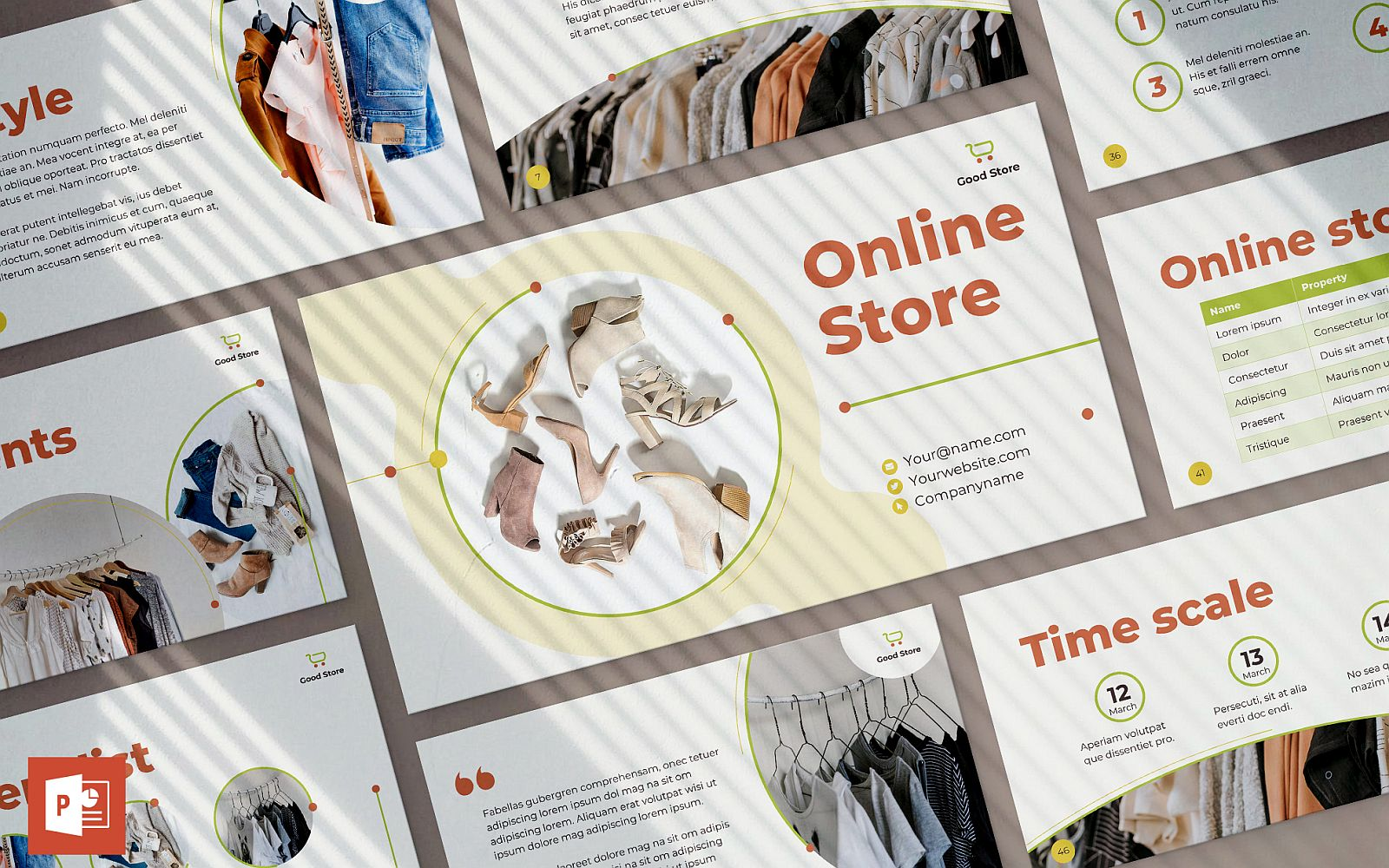 Online Store Presentation PowerPoint Template