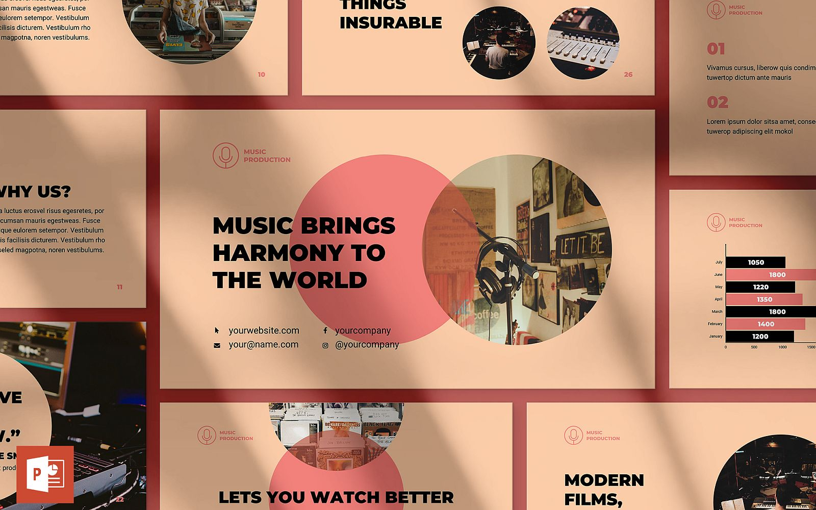 Music Production Presentation PowerPoint Template