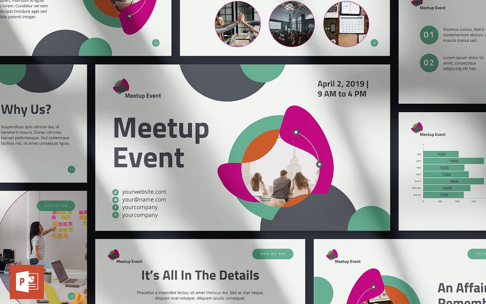 Meetup Event Presentation PowerPoint Template