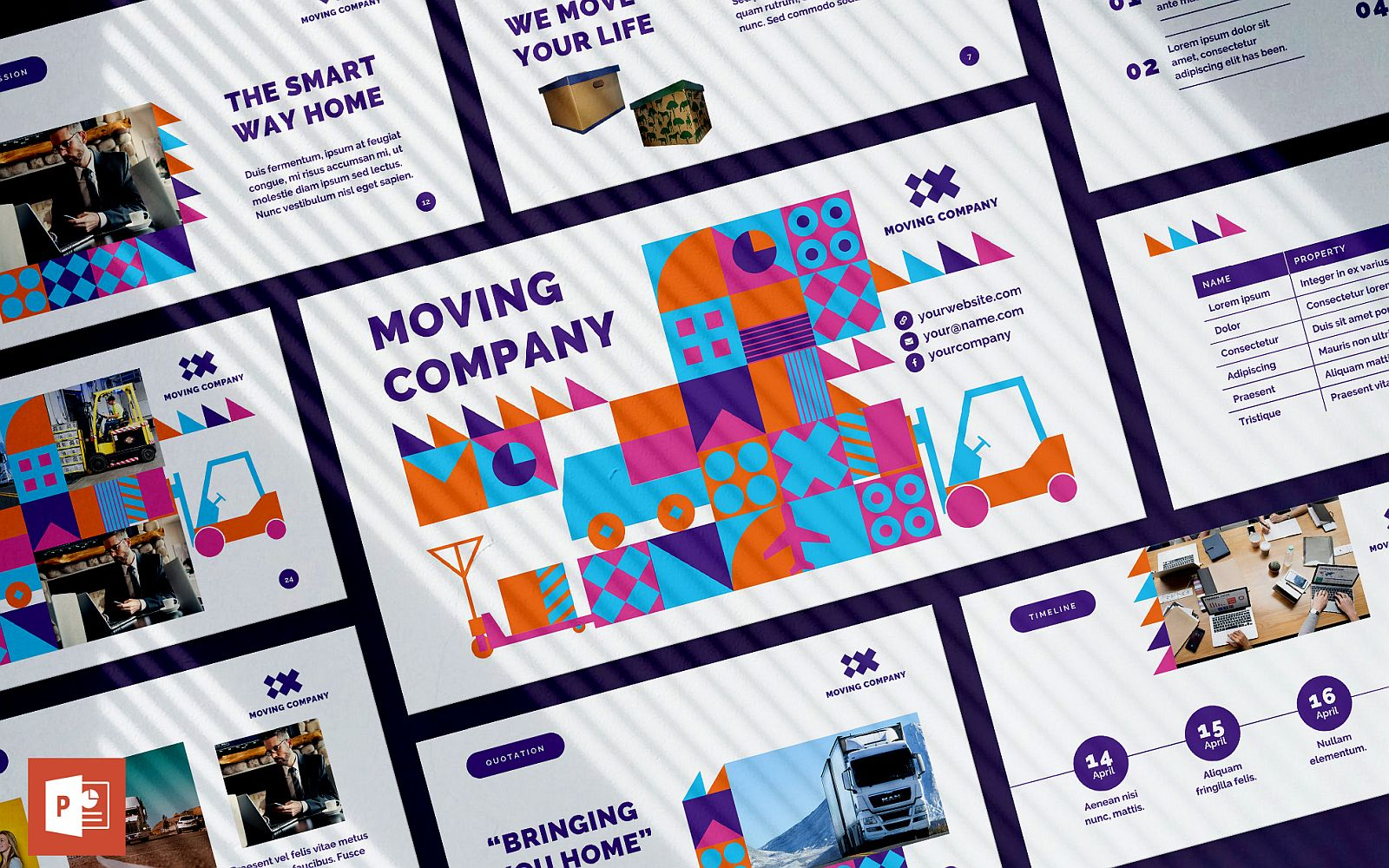 Moving Company Presentation PowerPoint Template