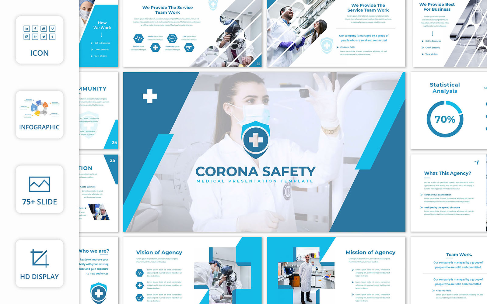 Corona Safety PowerPoint Template