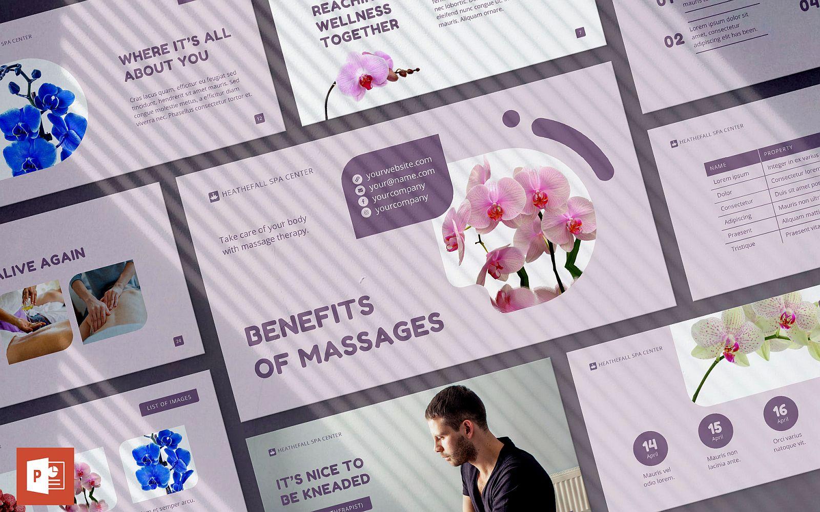Massage Spa Salon Presentation PowerPoint Template