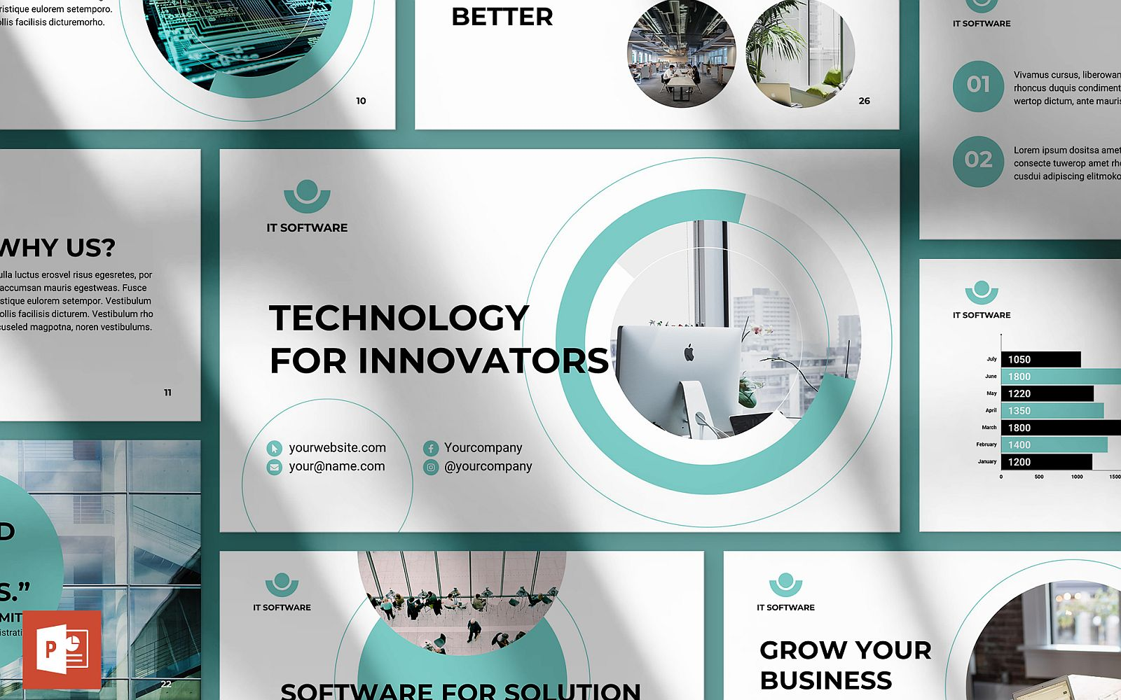 IT Software Presentation PowerPoint Template