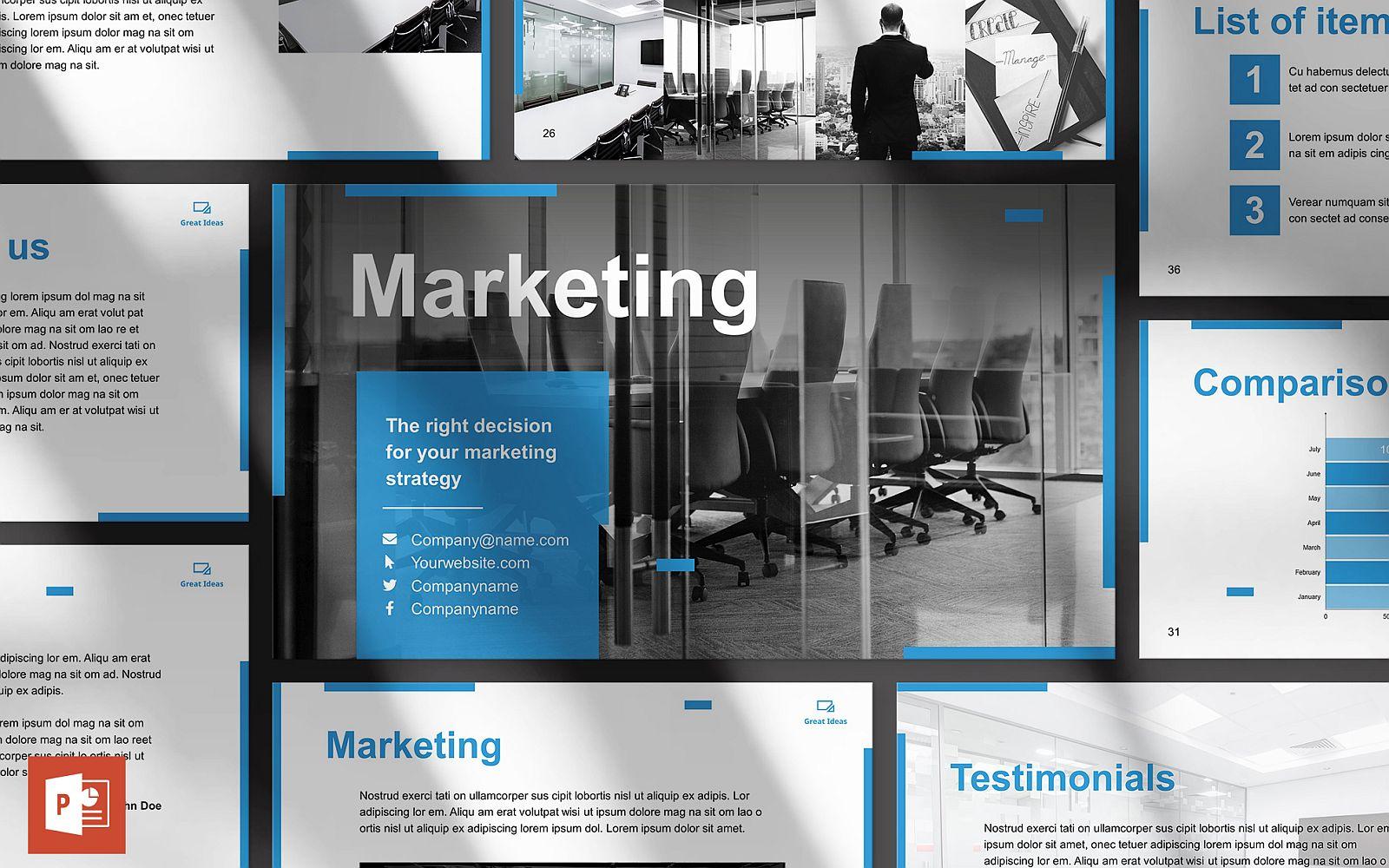 Marketing Company Presentation PowerPoint Template