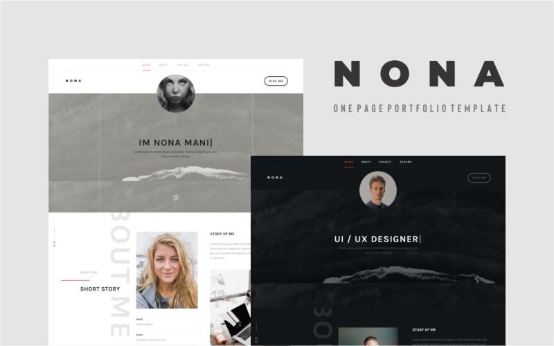 Nona - Personal Portfolio Landing Page Template