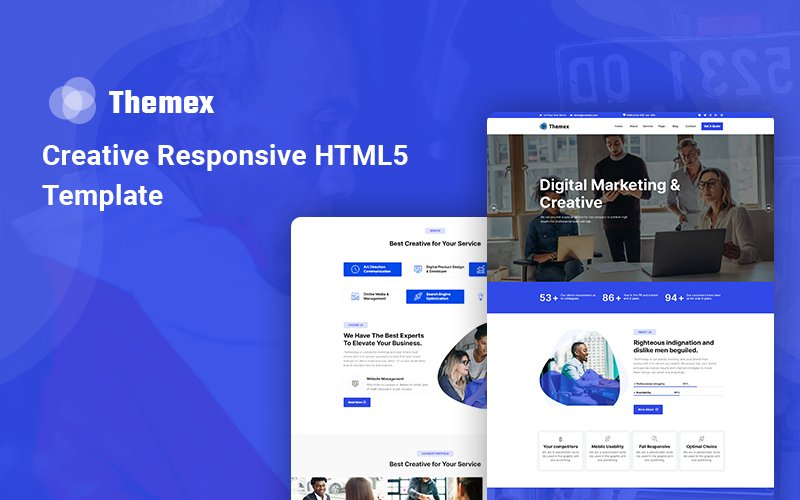 Themex - Creative Responsive Website Template