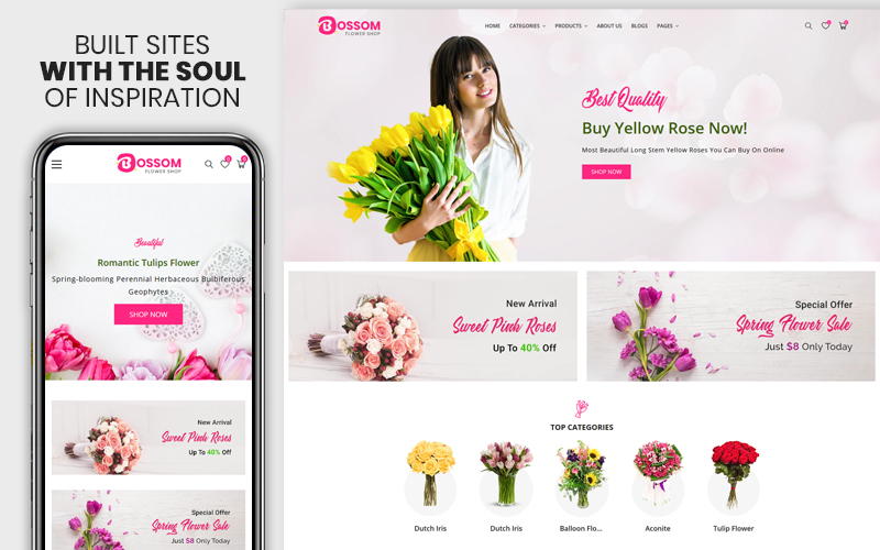 Bossom - The Flower & Gift  Premium Boostrap Shopify Theme