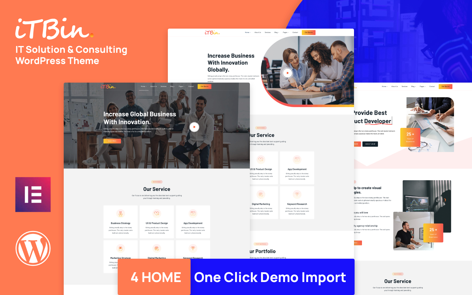 ITBIN - IT Solution and Business Service WordPress Theme