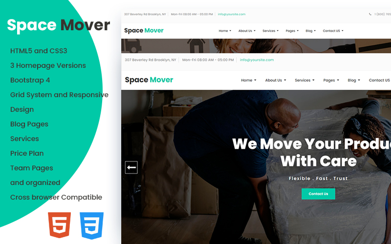 Space Mover Website Template
