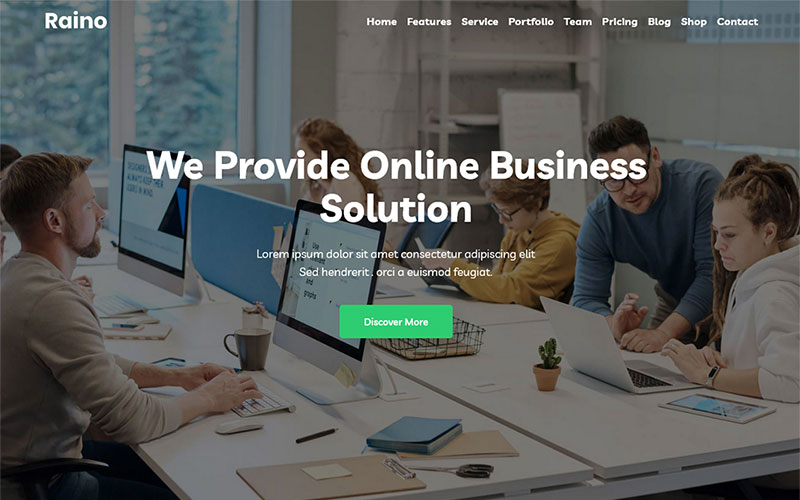 Raino - Digital Agency One page WordPress Theme
