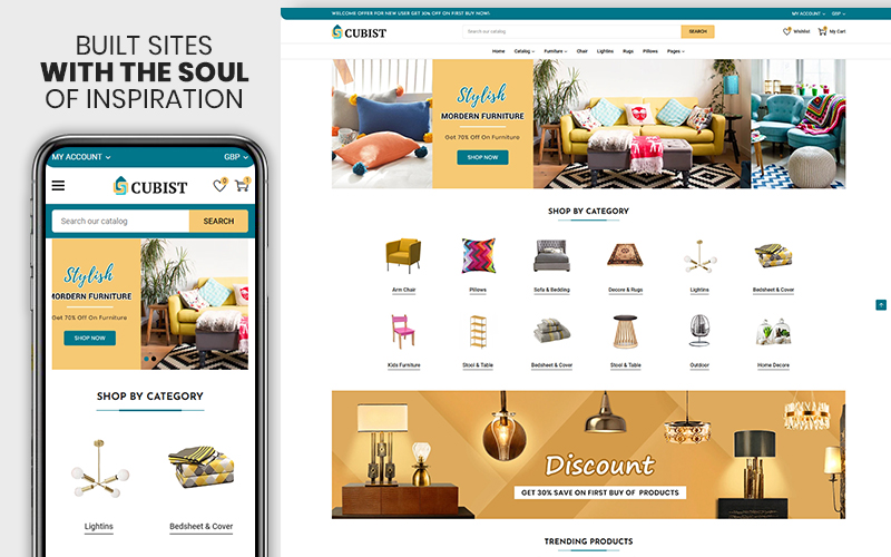 Cubist - The Furniture & Interior Responsive eCommerce Shopify Theme