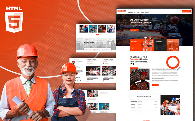 Fornia Construction Consultancy Website Template