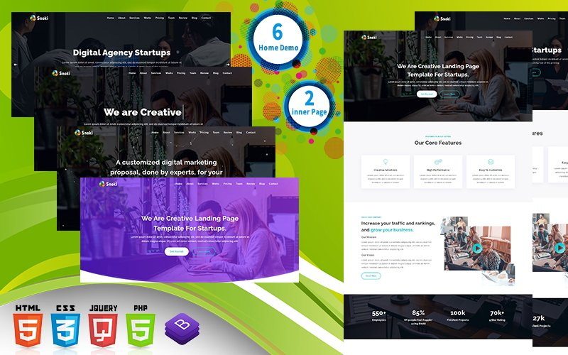 Snoki - SEO Agency & Business HTML Landing Page Template