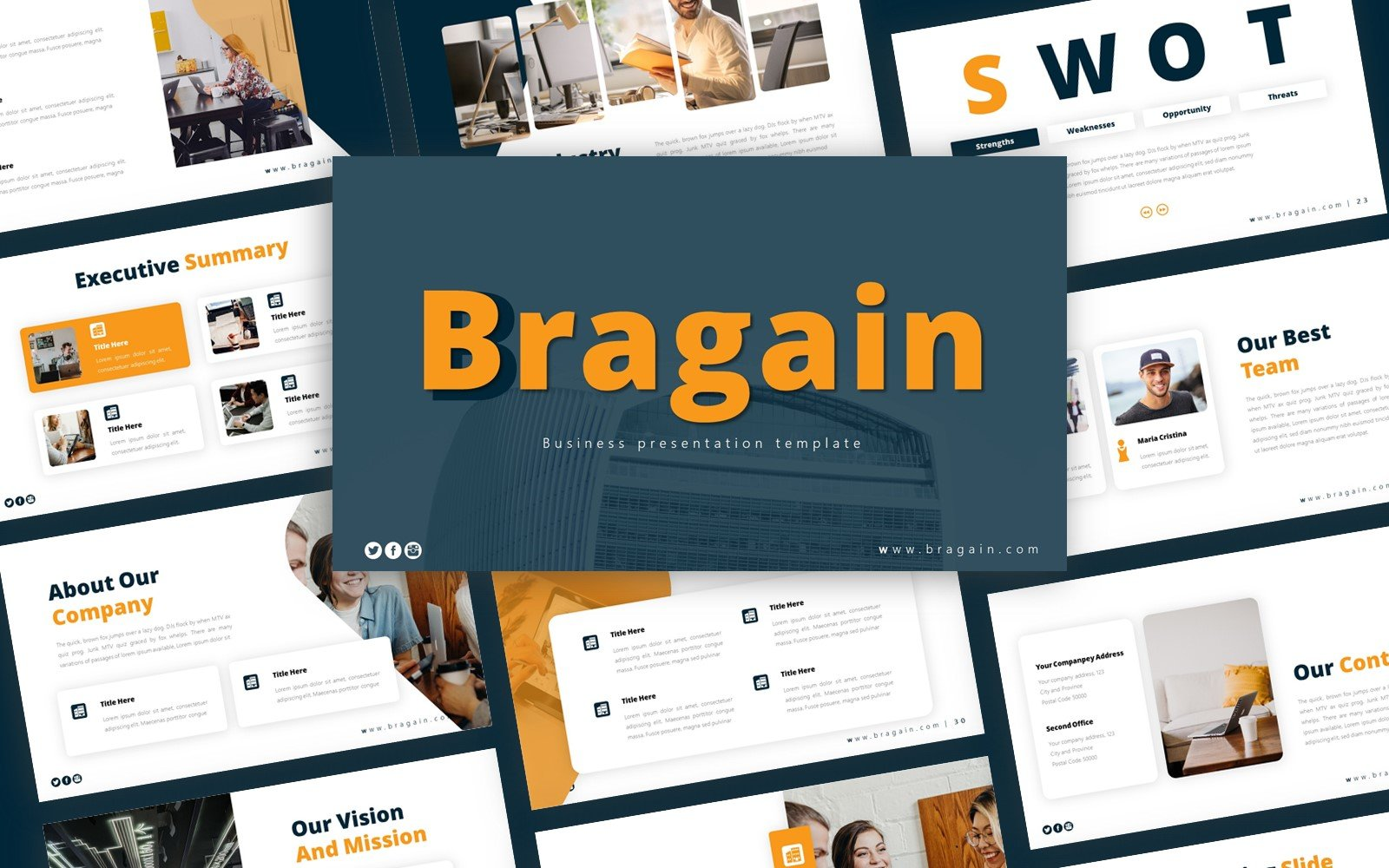 Bragain Business Presentation PowerPoint Template