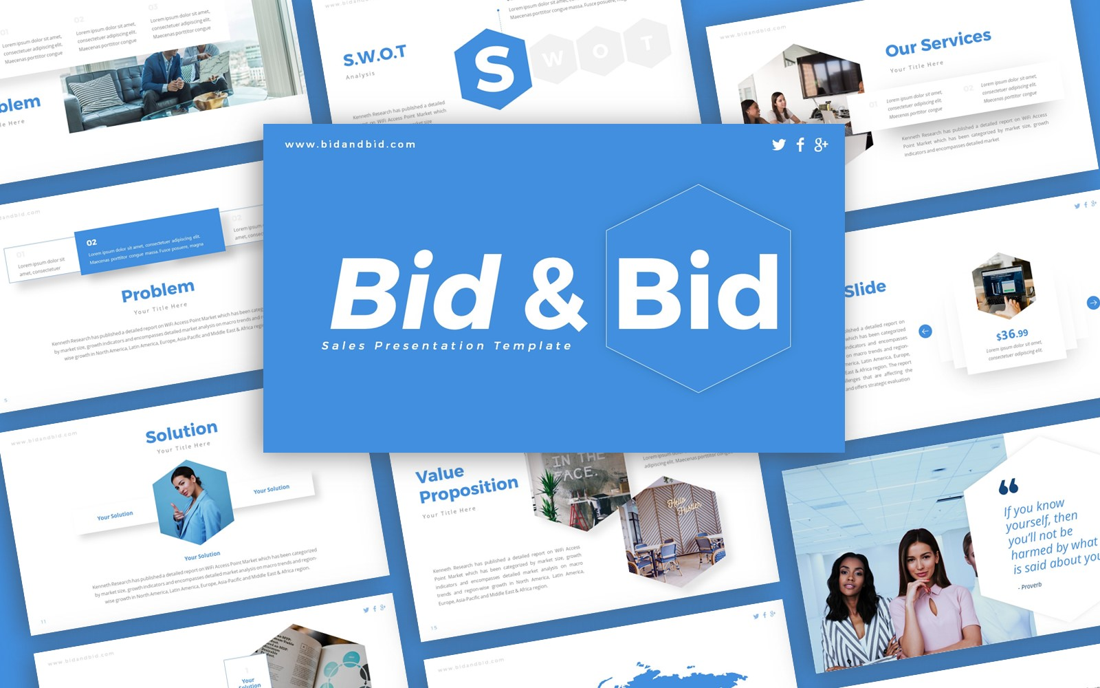 Bid and Bid Sales Presentation PowerPoint Template