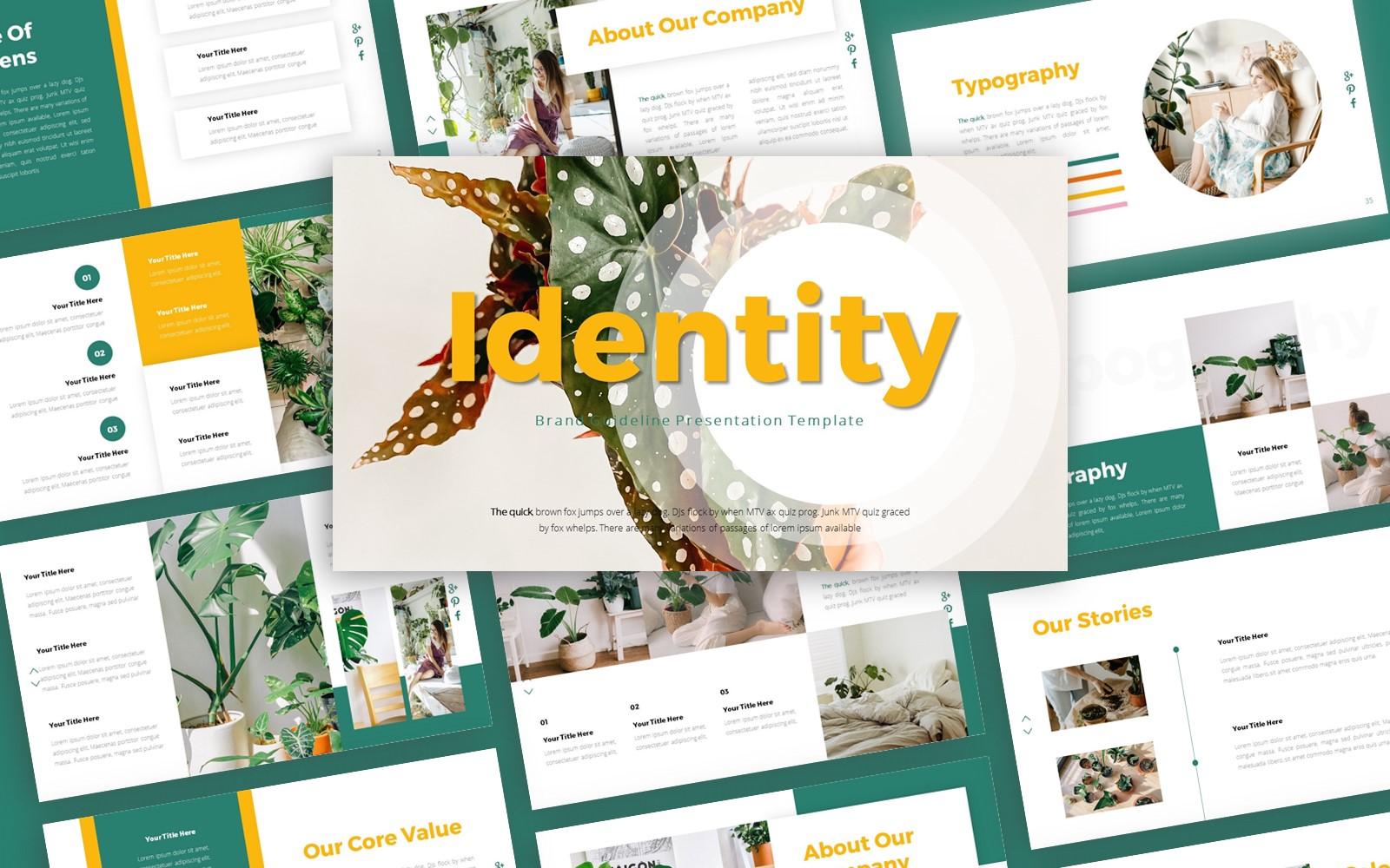 Identity Brand Guideline Presentation PowerPoint Template