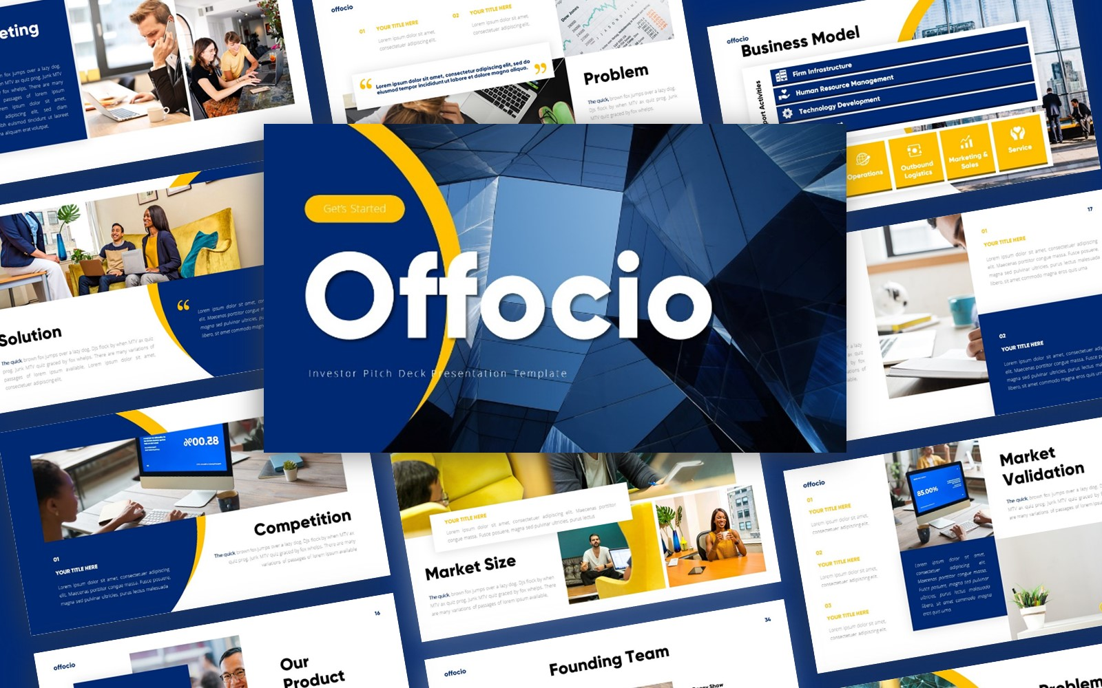 Offocio Investor Presentation PowerPoint Template