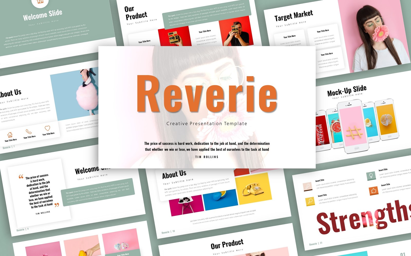 Reverie Creative Presentation PowerPoint Template