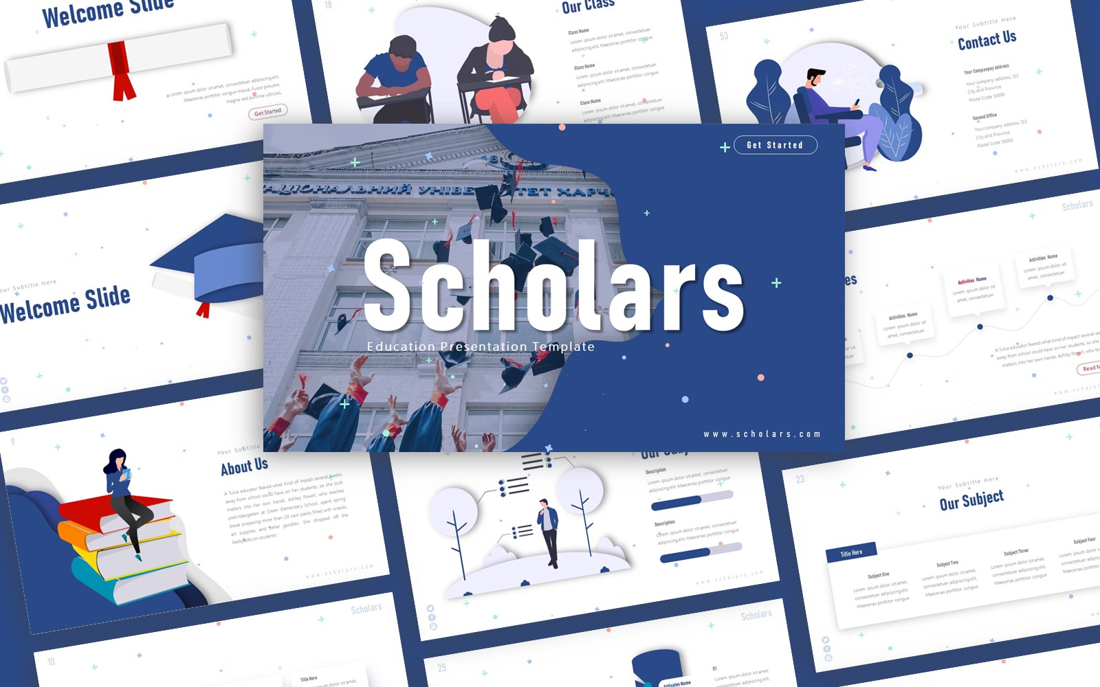 Scholar Education Presentation PowerPoint Template