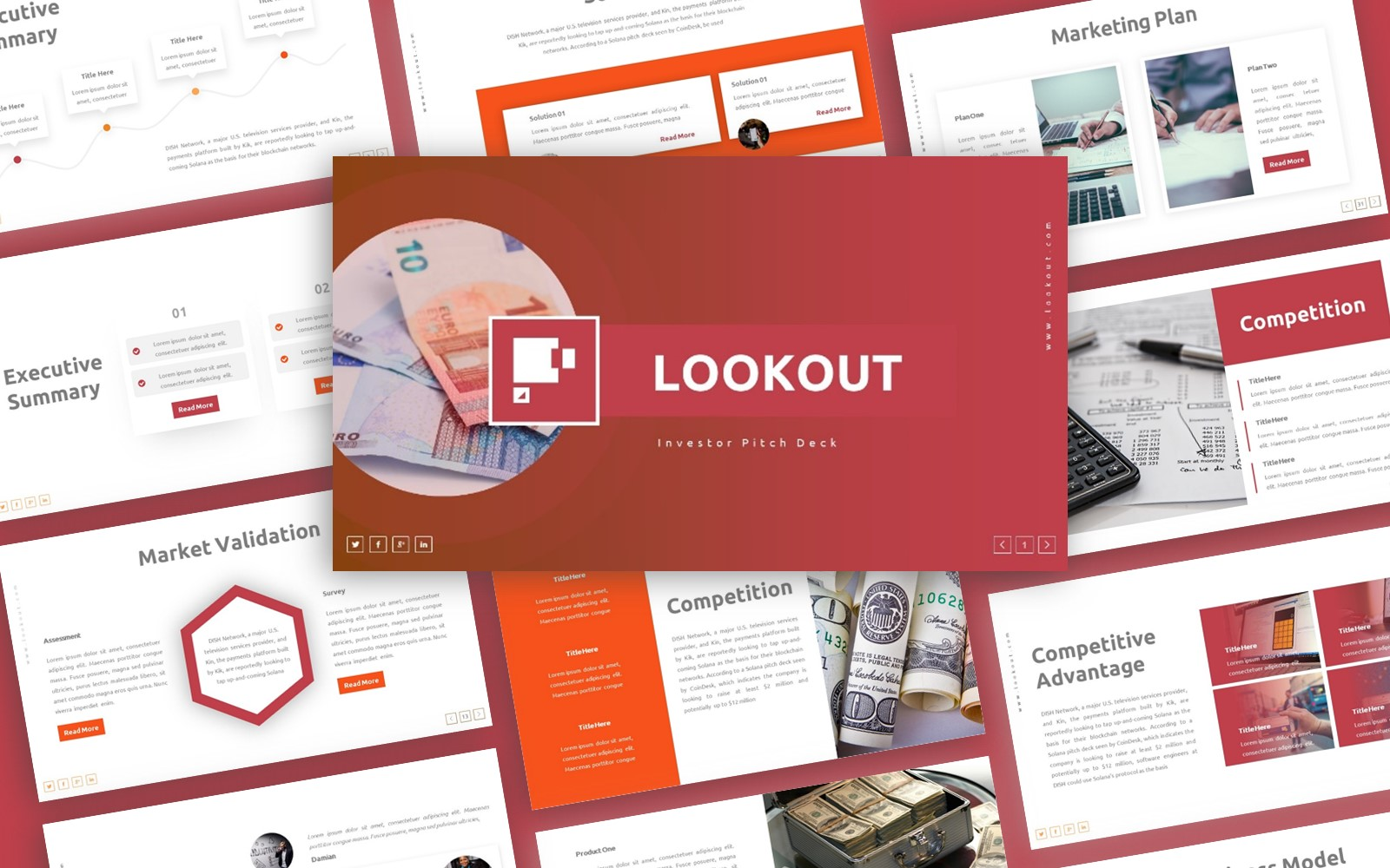 Lookout Investor Pitch Deck  Presentation PowerPoint Template
