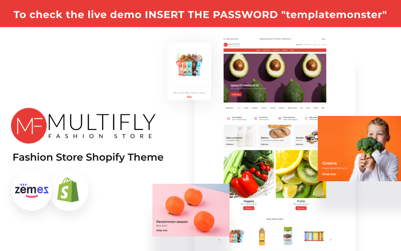 Multifly - Online Supermarket Website Template Shopify Theme