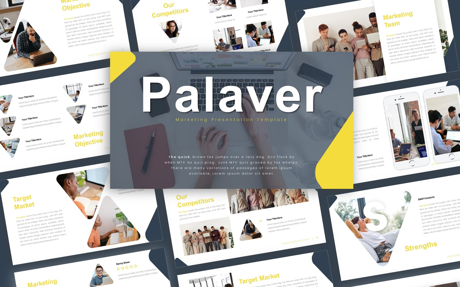 Palaver Marketing Presentation PowerPoint Template