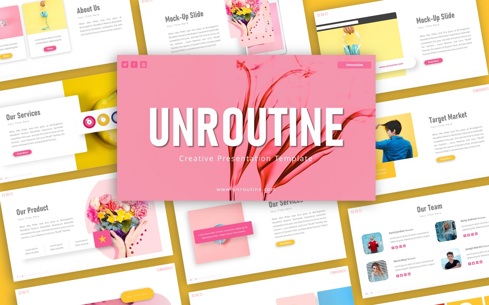 Unroutine Creative Presentation PowerPoint Template