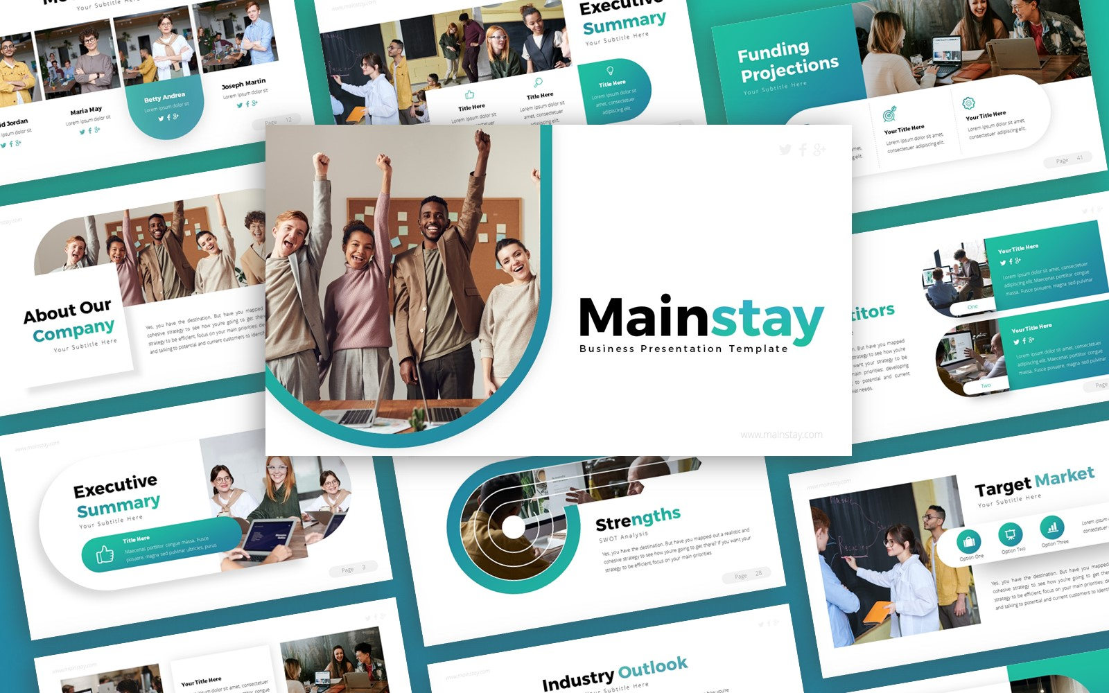 Mainstay Business Presentation PowerPoint Template