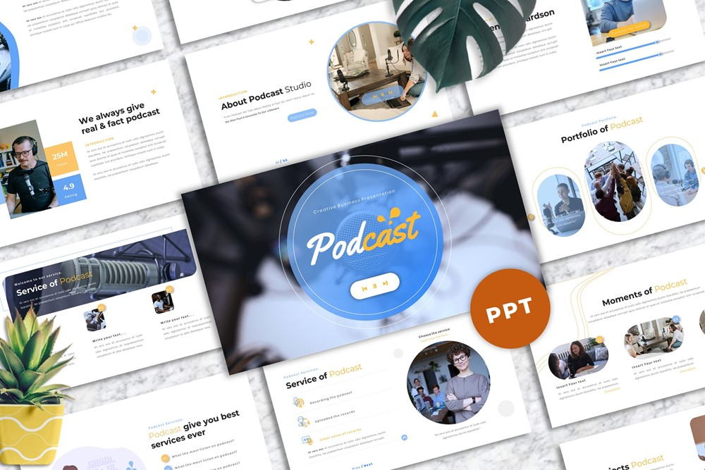 Podcast - Business PowerPoint Template