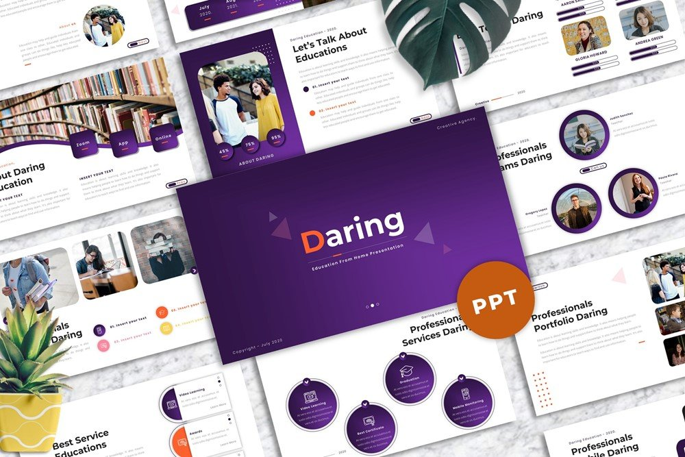 Daring  - Education PowerPoint Template