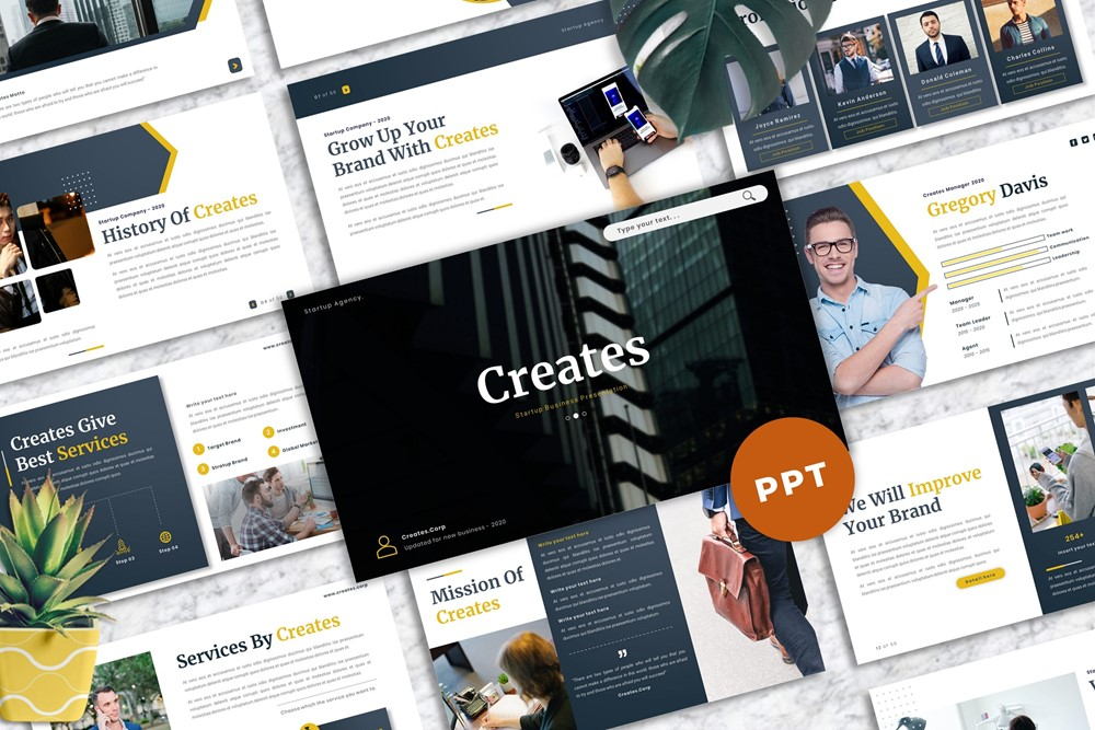 Creates - Business PowerPoint Template