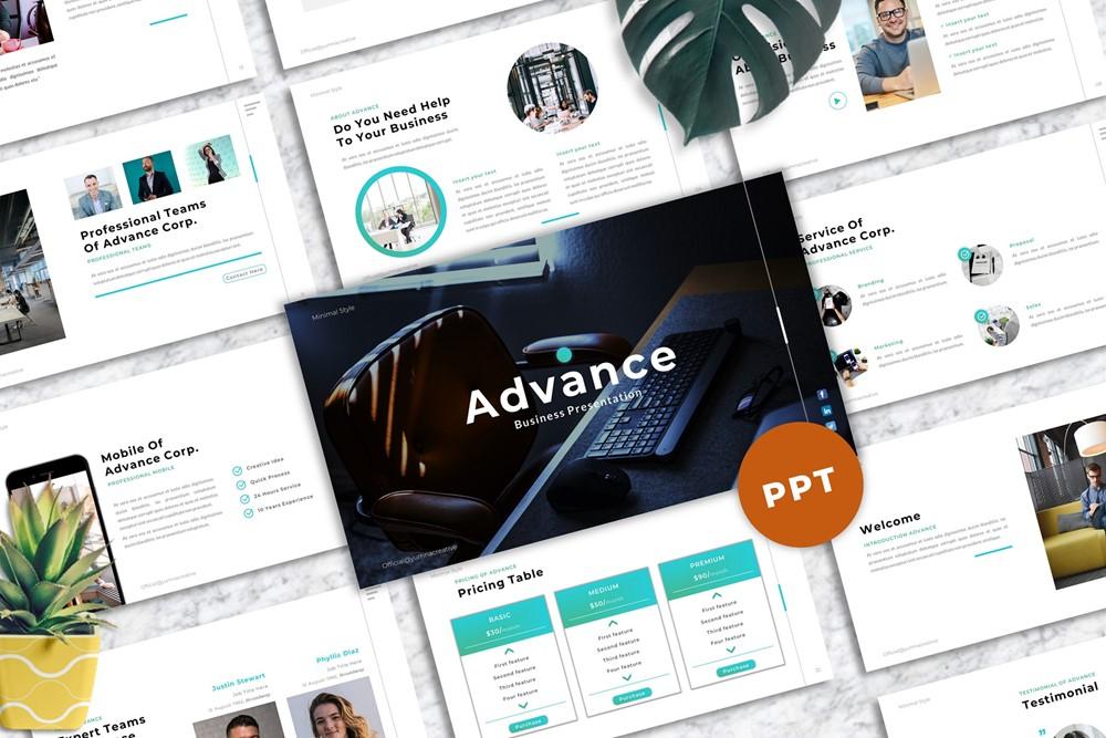 Advance - Business PowerPoint Template