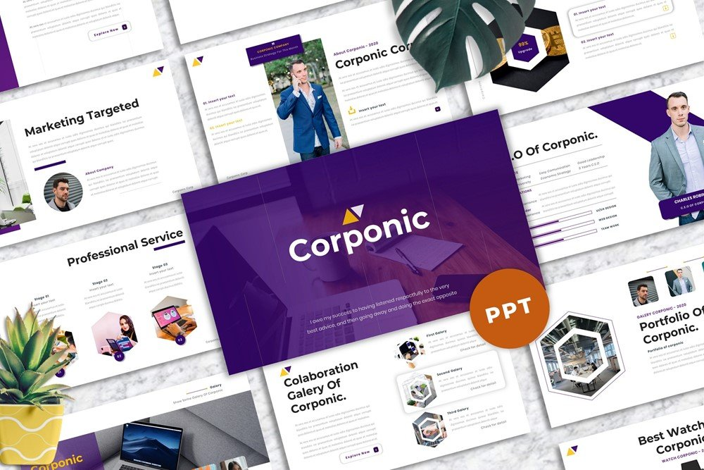 Corponic - Business PowerPoint Template