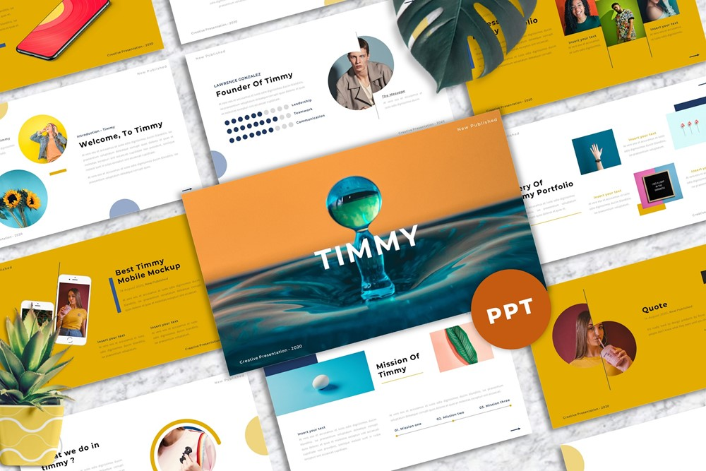 Timmy - Creative PowerPoint Template